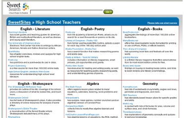 http://www.sweetsearch.com/sweetsites/categories/high-school/teachers