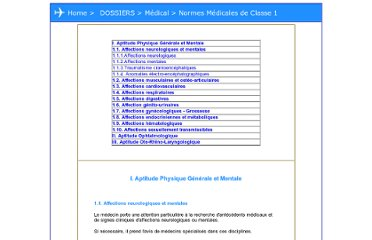 http://devenirpilote.free.fr/under_dossiers/medical/medical_classe1.htm#I