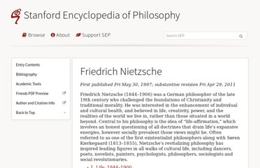 http://plato.stanford.edu/entries/nietzsche/