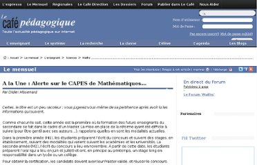 http://www.cafepedagogique.net/lemensuel/lenseignant/sciences/maths/Pages/2010/118_AlaUne.aspx