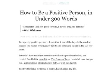 http://zenhabits.net/300-word-positivity/