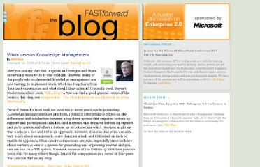 http://www.fastforwardblog.com/2008/02/15/wikis-versus-knowledge-management/