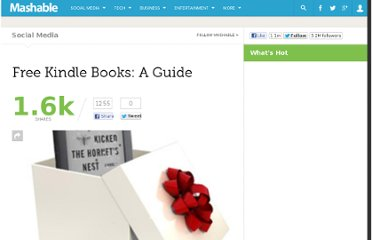 http://mashable.com/2010/12/25/free-kindle-books/