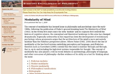 http://plato.stanford.edu/entries/modularity-mind/