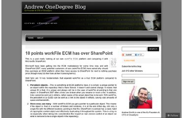 http://andrewonedegree.wordpress.com/2009/07/28/10-points-workfile-ecm-has-over-sharepoint/