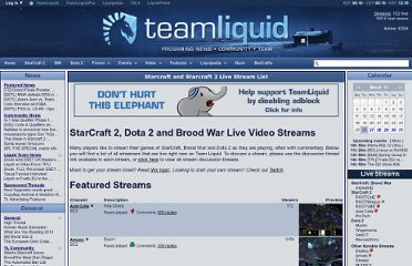 http://www.teamliquid.net/video/streams/