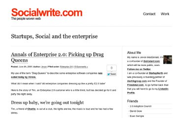 http://socialwrite.com/2008/06/04/annals-of-enterprise-20-picking-up-drag-queens/