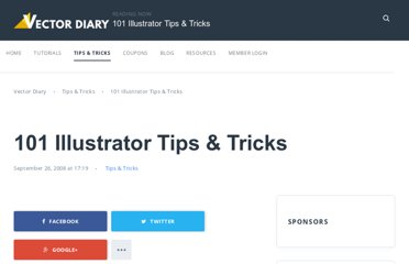 http://www.vectordiary.com/tips-and-tricks/101-illustrator-tips-tricks/