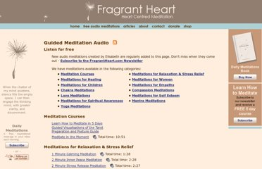 http://www.fragrantheart.com/cms/free-audio-meditations