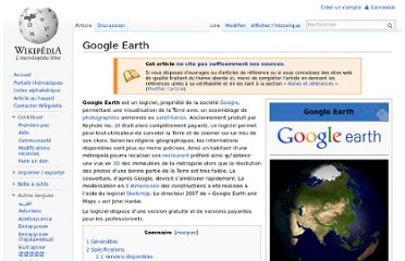 http://fr.wikipedia.org/wiki/Google_Earth