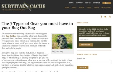http://survivalcache.com/bug-out-bag/