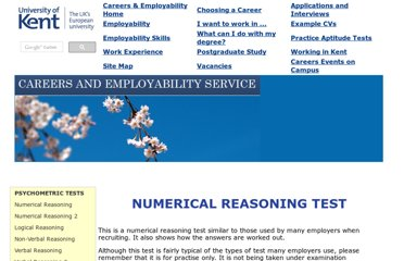 http://www.kent.ac.uk/careers/tests/mathstest.htm
