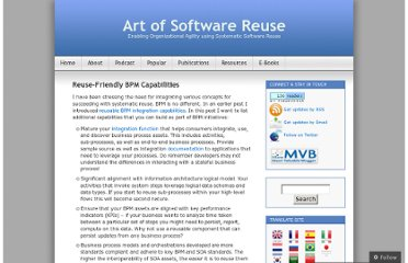 http://artofsoftwarereuse.com/2009/10/21/reuse-friendly-bpm-capabilities/