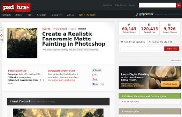 http://psd.tutsplus.com/tutorials/photo-effects-tutorials/create-a-realistic-panoramic-matte-painting-in-photoshop/