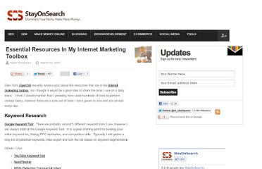 http://www.stayonsearch.com/essential-resources-in-my-internet-marketing-toolbox