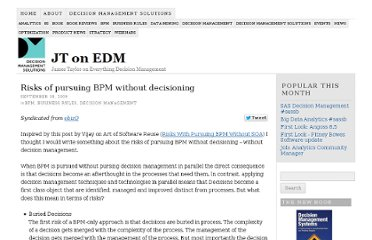 http://jtonedm.com/2009/09/18/risks-of-pursuing-bpm-without-decisioning/
