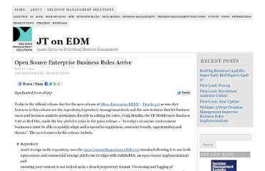 http://jtonedm.com/2009/05/19/open-source-enterprise-business-rules-arrive/