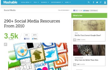 http://mashable.com/2010/12/26/social-media-resources-2010/