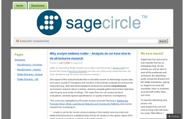 http://sagecircle.wordpress.com/2008/07/09/why-analyst-relations-matter/