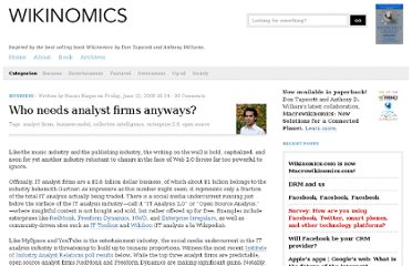 http://www.wikinomics.com/blog/index.php/2008/06/13/who-needs-analyst-firms-anyways/