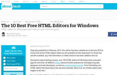 http://webdesign.about.com/od/windowshtmleditors/tp/free-windows-editors.htm