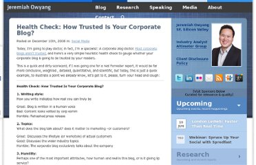 http://www.web-strategist.com/blog/2008/12/10/health-check-how-trusted-is-your-corporate-blog/