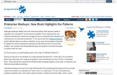 http://blog.programmableweb.com/2009/01/07/enterprise-mashups-new-book-highlights-the-patterns/