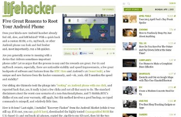 http://lifehacker.com/5342237/five-great-reasons-to-root-your-android-phone