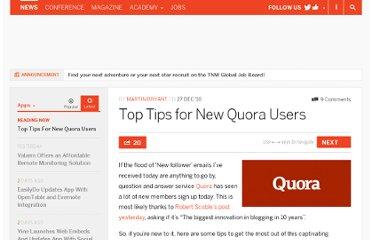 http://thenextweb.com/apps/2010/12/27/top-tips-for-new-quora-users/