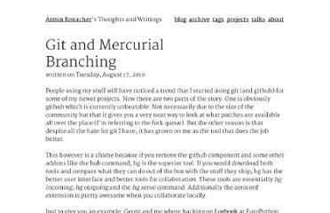 http://lucumr.pocoo.org/2010/8/17/git-and-mercurial-branching/