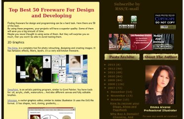 http://blog.emmaalvarez.com/2007/10/top-best-50-freeware-for-design-and.html