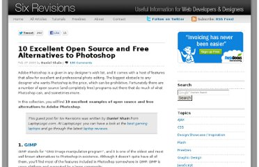 http://sixrevisions.com/graphics-design/10-excellent-open-source-and-free-alternatives-to-photoshop/
