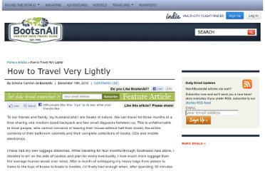 http://www.bootsnall.com/articles/10-12/how-to-travel-very-lightly.html