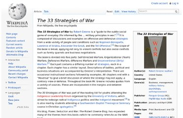 http://en.wikipedia.org/wiki/The_33_Strategies_of_War