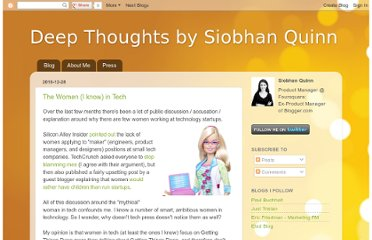 http://www.siobhankquinn.com/2010/12/women-i-know-in-tech.html