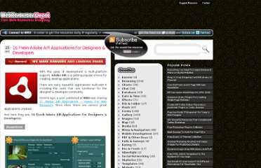 http://www.webresourcesdepot.com/16-fresh-adobe-air-applications-for-designers-developers/