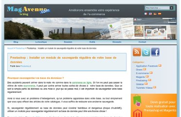 http://www.magavenue.com/blog/prestashop/prestashop-installer-un-module-de-sauvegarde-reguliere-de-votre-base-de-donnees