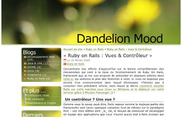 http://dandelionmood.com/Ruby-on-Rails-Vues-Controleur.html