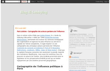 http://ie-lobbying.blogspot.com/2007/08/paris-lobbies-cartographie-des-acteurs.html