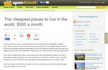 http://opentravel.com/blogs/the-cheapest-places-to-live-in-the-world-500-a-month/