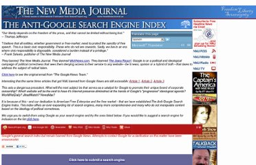 http://www.newmediajournal.us/daily_columns/anti-google_search_engine_index.htm