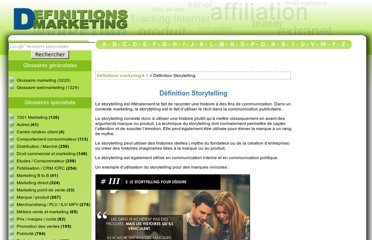 http://www.definitions-marketing.com/Definition-Storytelling
