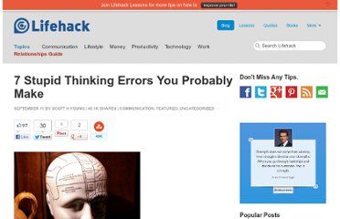 http://www.lifehack.org/articles/lifehack/7-stupid-thinking-errors-you-probably-make.html