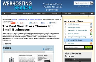 http://www.webhostingsearch.com/articles/the-best-wordpress-themes-for-small-businesses.php
