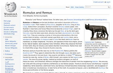 http://en.wikipedia.org/wiki/Romulus_and_Remus#The_legend