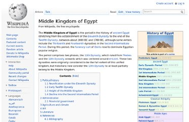 http://en.wikipedia.org/wiki/Middle_Kingdom_of_Egypt