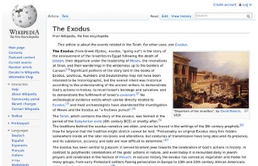 http://en.wikipedia.org/wiki/The_Exodus#Dating_the_Exodus_overview