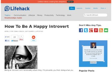 http://www.lifehack.org/articles/lifestyle/how-to-be-a-happy-introvert.html