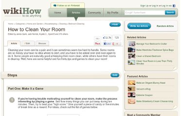 http://www.wikihow.com/Clean-Your-Room