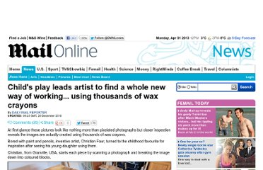 http://www.dailymail.co.uk/news/article-1342262/Artist-Christian-Faur-uses-wax-crayons-create-new-kind-painting.html